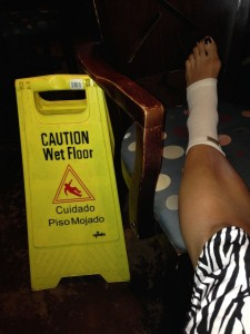 1 Caution Ankle Injury