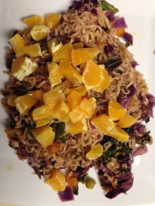 5 oranges & red cabbage