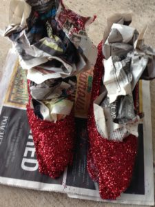 6 glittered shoes